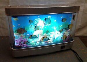 Vintage Electric Aquarium Motion Light Lamp Night Light Revolving Tank Display