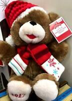 "2017 WalMART CHRISTMAS Snowflake TEDDY BEAR Brown Boy 13"" Red Outfit Brand New"