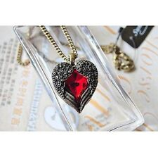 Women's Vintage Crystal Heart Chain Necklace Fashion Jewellery