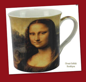 """Leonardo's """"Mona Lisa"""" Fine China Art Mug In Matching Gift Box"""
