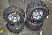 2 FRONT-2 REAR BOSS POLISHED RIMS & AMBUSH TIRES-,KSF400A/KFX400,ICEBEAR