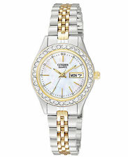 Citizen EQ0534-50D Mother of Pearl Swarovksi Crystal Ladies Quartz Watch