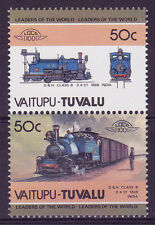 TUVALU VAITUPU LOCO 100 D & H CLASS B LOCOMOTIVE INDIA STAMPS MNH