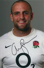 Charlie Sharples, Gloucester & England rugby union, signed 6x4 inch photo. Coa.