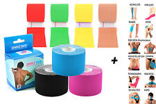3x Kinesiology Tape Simple Tape +12 Instructions - 16 5/12ft IN Various Sparsets