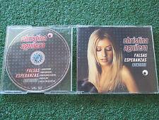 """CHRISTINA AGUILERA """"Falsas Esperanzas"""" VERY SCARCE 2001 Spain CD Maxi Single"""
