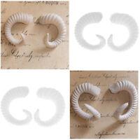 Artificial Ram's Horns Costume Sheep Hair Headband DIY Accessories - White