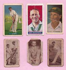 Selection of Cigarette & Trade Cards:  DON BRADMAN (Cricket) x 6