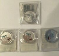 "(3) Canada ""Winter Fun"" $25 for $25 & (1) ""Bugs Bunny"" $20 for $20 silver coins"