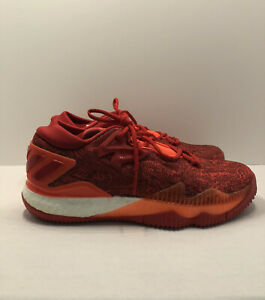 NWOB Adidas Crazylight Boost Low 2016 Mens 9.5 Red/Orange Basketball Shoes