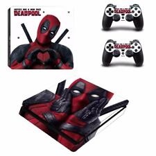 Deadpool Marvel PS4 Slim Console Skin Decals Vinyl Skin Sticker Decal Wrap Cover
