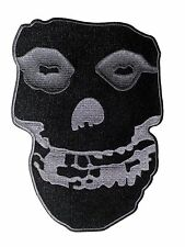 """Misfits Schwarz & Grau Skull Large 10"""" - Patch-der p2811x kostenlose USA Versand"""