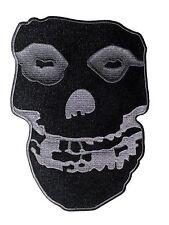 "MISFITS black & grey skull LARGE 10"" BACK PATCH -the p2811x Free U.S. Shipping"