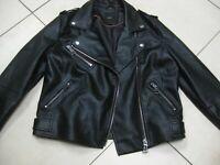Ladies NEXT faux leather JACKET UK 12 10 biker flying aviator bomber cafe racer