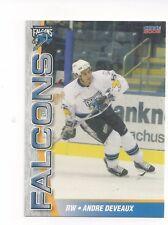 2005-06 Springfield Falcons (AHL) Andre Deveaux (Sheffield Steelers)