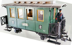 """LGB 3010 2nd Class Passenger Car Green Lights With 6 Figures """"ABi/s 1"""" Only 1978"""