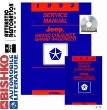 1993 Jeep Grand Cherokee Wagoneer Shop Service Repair Manual CD OEM Guide