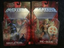 Masters Of The Universe 2002 He-Man and Skeletor Action Figures Mattel MIB