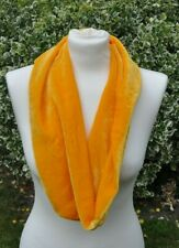 Long cowl/snood Scarf in silk velvet yellow