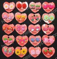 5 pairs Girls Kids Clip On Earrings Non Piercing Party Favors/Bag Fillers Bulk