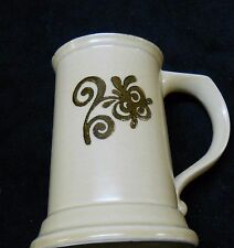 Pfaltzgraff Village Brown Beige Tankard Stein Mug Beverage Beer Handle