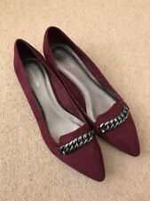 "MONSOON Women's Purple Jewellery Pointed Toe 1"" Heel Shoes Size 6.5 - NEW £45"