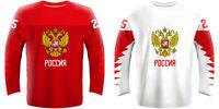 NEW 2019 Russia Hockey Jersey KUCHEROV OVECHKIN PANARIN MALKIN TARASENKO NHL