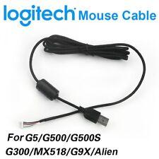 Logitech USB Mouse Cables For G9X Alien/G5/MX518/G500/G502/G300S/G402/G102/G400S