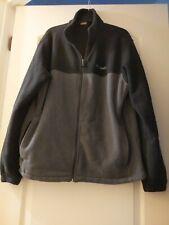 NWOT Columbia Full Zip Fleece Black/Gray Jacket Men XL Thermal Comfort