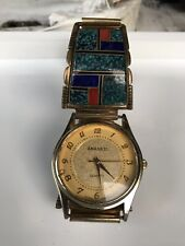 native american watch band r francisco sterling silver