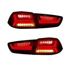 VLAND Smoked LED Sequential Tail Lights For 08-17 Mitsubishi Lancer / Evo X
