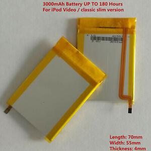 LG 3000mAh Battery replace fr iPod Classic 6/7 80/120/160GB Video 5/5.5 30GB