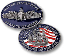 """NEW U.S. Navy Surface Warfare """"Warriors Of The Sea"""" Challenge Coin."""