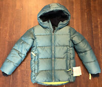 All in Motion Boy's Size S (6-7) Puffer Jacket Hooded Coat - Green