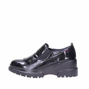 CALLAGHAN 27206 Rock Moccasin Wedge frangia Slip On Woman Leather Shiny