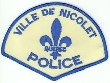 Ville de Nicolet Police, Quebec, Canada HTF Vintage Uniform/Shoulder Patch