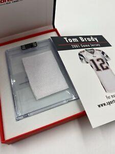 Patriots Tom Brady 2001 Game Worn Jersey Patch Relic Sportscards.com