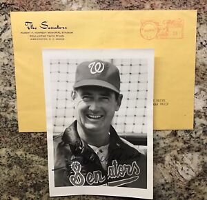 Vintage Ted Williams Signed 5x7 Photo Washington Senators Autograph, Auto
