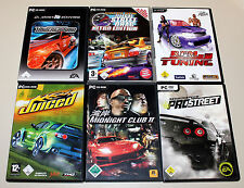 6 STREET RACING SPIELE PC - MIDNIGHT CLUB JUICED NEED FOR SPEED UNDERGROUND RPM
