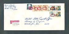 Strip-3 #1610 + More on a 1981 Americana Series $3.67 Registered Mail cover