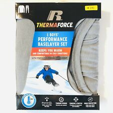 Russell Therma Force Boys Medium (8) Black Performance Base Layer Thermal Set