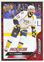 2016-17 Upper Deck Compendium Series 3 RED ROOKIE RC Mike Liambas  #888