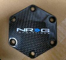 NEW NRG Carbon Fiber Steering Wheel Horn Button Delete Cover Plate
