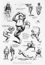 BASEBALL IN 1900 SOME FINE POINTS OF THE NATIONAL GAME UMPIRE CATCHER PITCHER