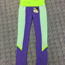 NWT TODDLER GIRLS ADIDAS CLIMATE PANTS SIZE 5 Purple Green Ruffle