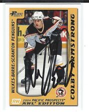 Colby Armstrong Signed 2003/04 Pacific Prospects AHL Card #94