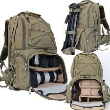 Waterproof Large Capacity Camera DSLR SLR Canvas Backpacks Laptop Shoulder Bags
