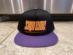 Supreme Underline SnapBack Hat SS18 Black/Purple cap