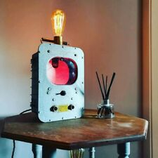 Unique Upcycled Vintage Wattmeter Lamp Industrial Decor Steampunk