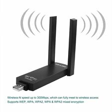 High Power Long Range USB WiFi Wireless Adapter 300Mbps 802.11n/g/b w/Antenna
